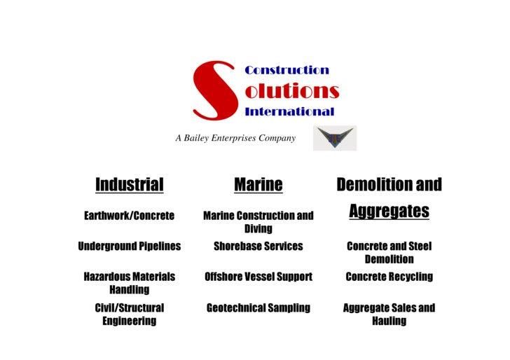 Construction                                        olutions                                        International         ...