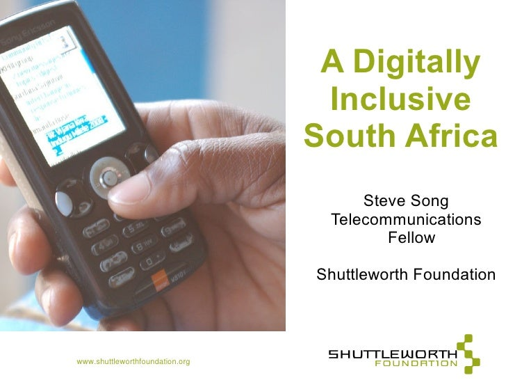 A Digitally                                   Inclusive                                  South Africa                     ...