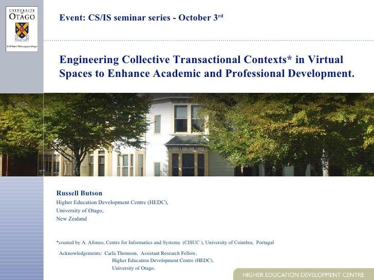 Csis Seminar Series Presentation