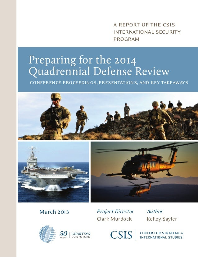 CSIS Report Preparing for the 2014 QDR
