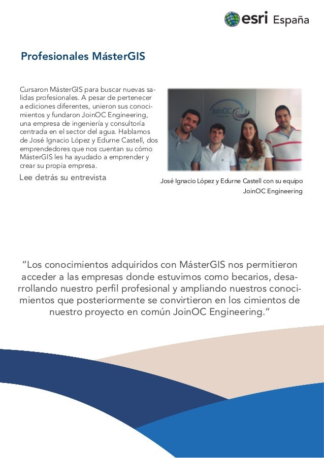Profesionales MásterGIS: JoinOC  Engineering