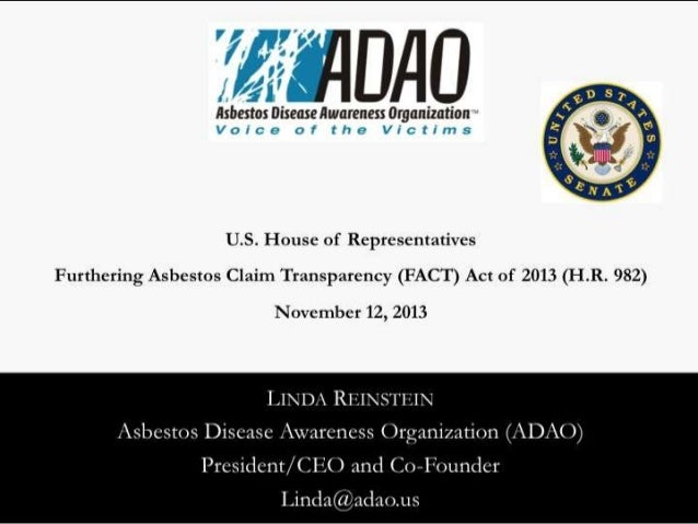 ADAO U.S. House Staff Briefing Presentation in Opposition of H.R. 982 - FACT Act of 2013
