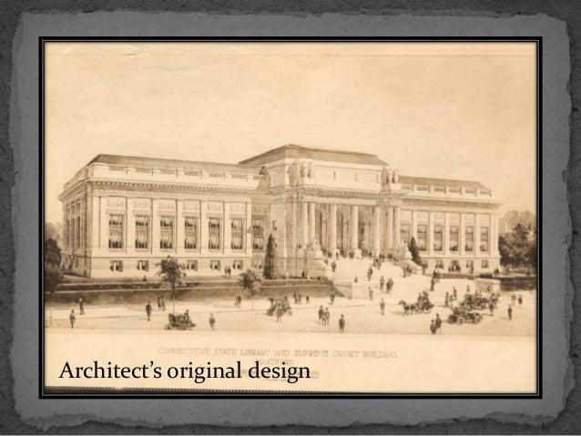 Architect's original design