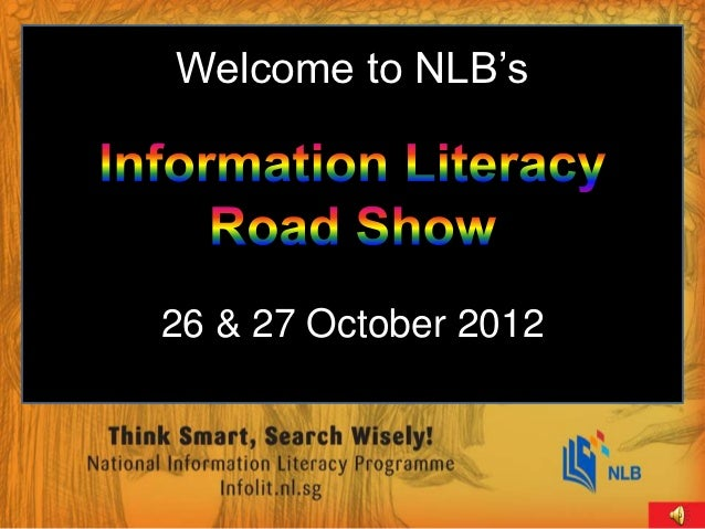 Welcome to NLB's26 & 27 October 2012