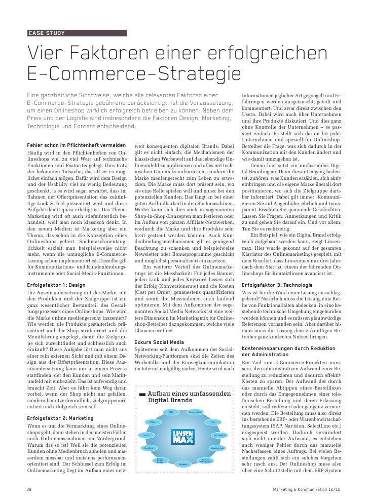 Vier Faktoren einer erfolgreichen E-Commerce-Strategie