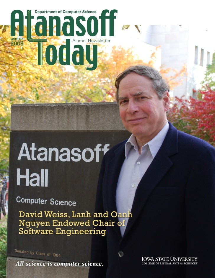 Department of Computer Science     winter                     Alumni Newsletter 2009        David Weiss, Lanh and Oanh    ...