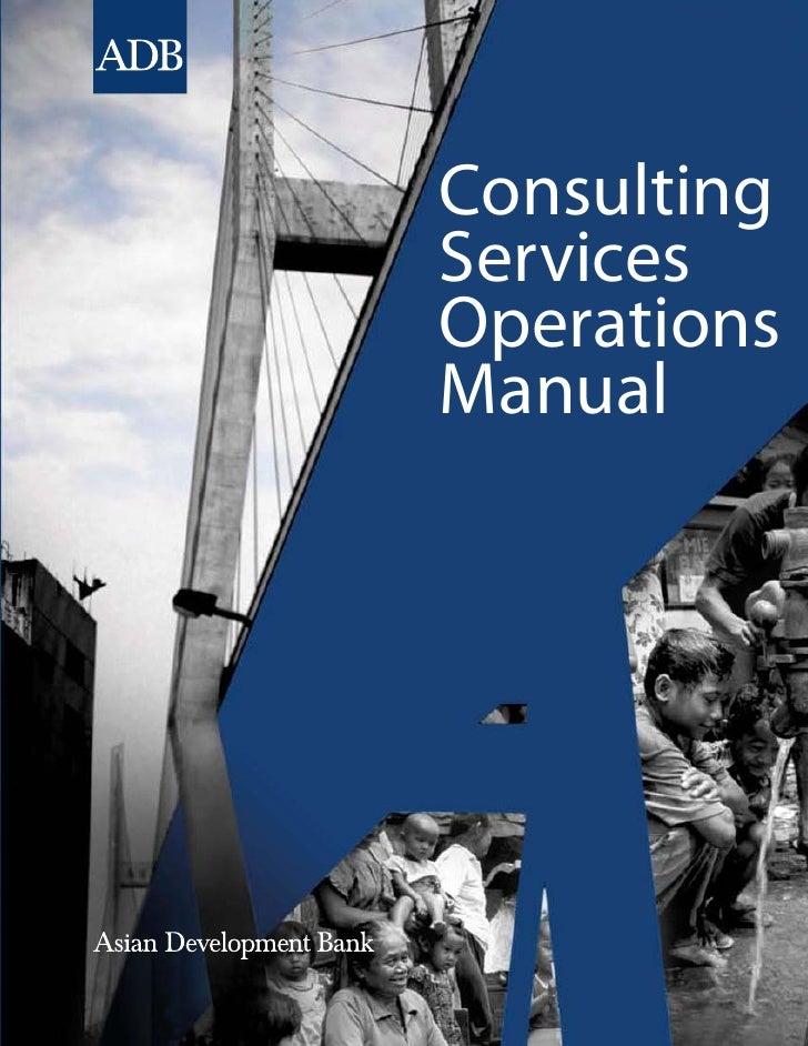 Consulting Services Operation Manual, Asian Development Bank