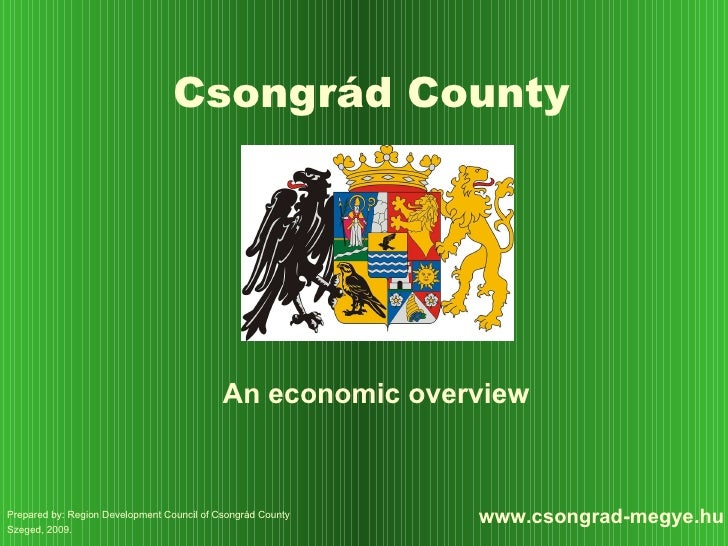 Csongrád County - An economic overview