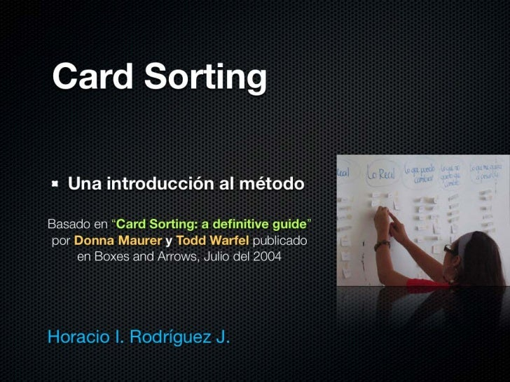 Card Sorting
