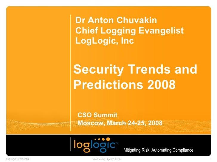 1st Russian CSO Summit Trends 2008