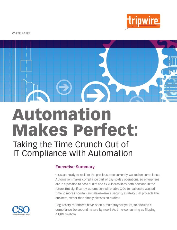 Automation Makes Perfect: Taking the Time Crunch Out of IT Compliance with Automation