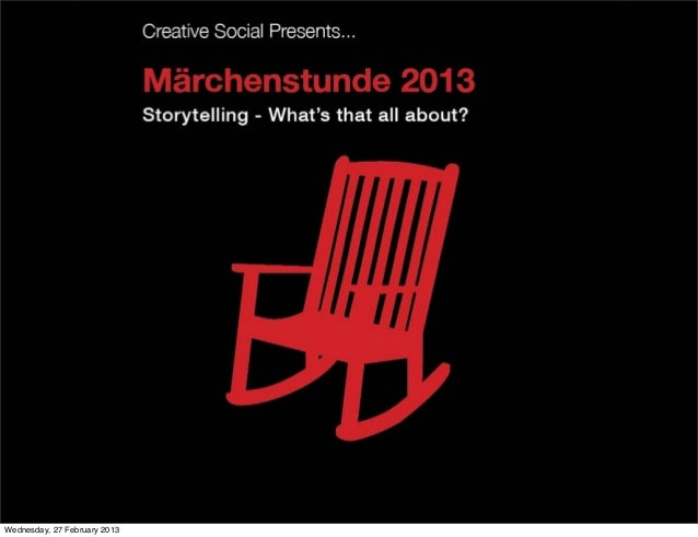 CS Presents - Storytelling - What's that all about
