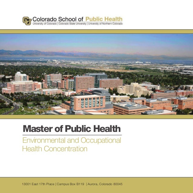 CSPH Master of Public Health Environmental & Occupational Health