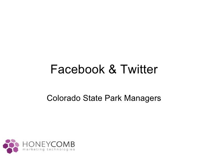 Facebook & Twitter Colorado State Park Managers