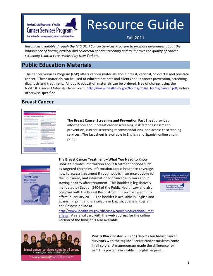 Resource Guide                                                                  Fall 2011 Resources available through the ...