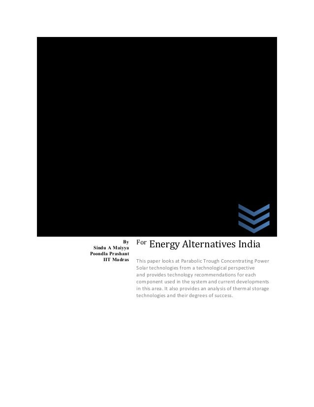 A white paper on Concentrated solar power in India