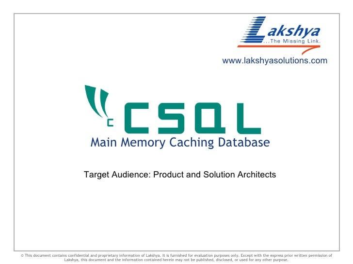Csql for telecom