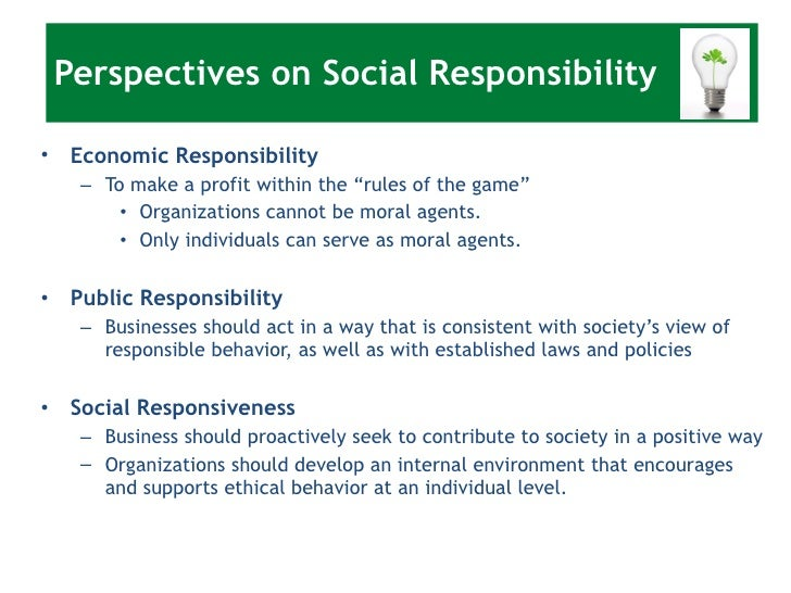essay about social responsibility of business