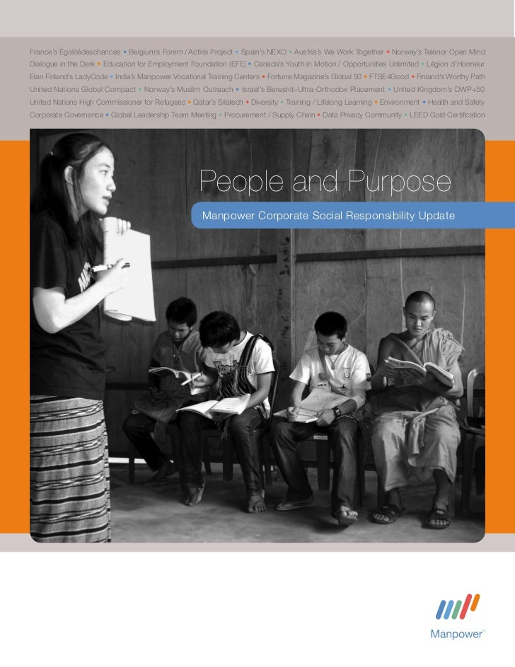 People and Purpose, Manpower Corporate Social Responsibility Update