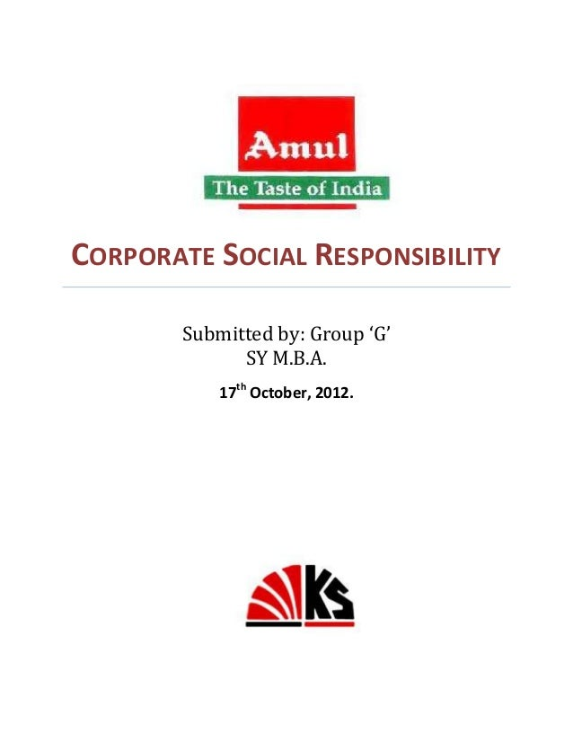 csr of amul Amul project - download as word doc (doc / docx), pdf file (pdf), text file (txt ) or read online.