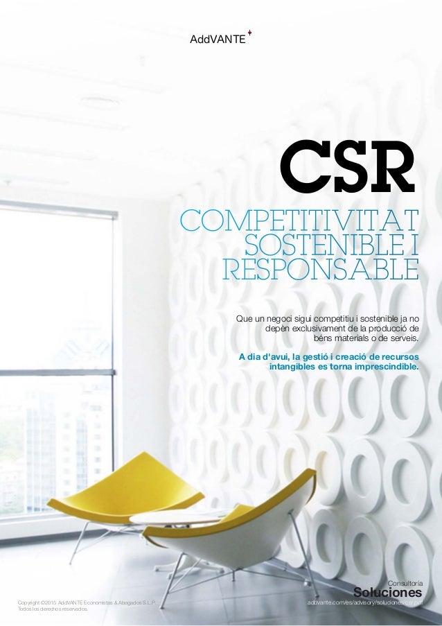CSR Competitivitat Sostenible i Responsable