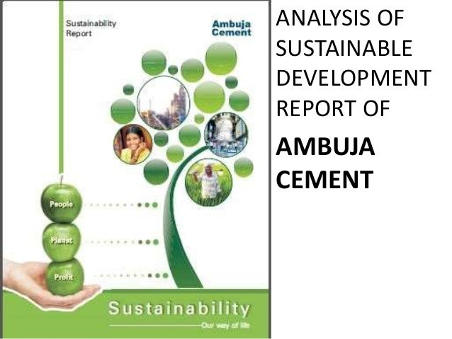 Shree Cement Ltd Mail : Sustainability report ambuja cement