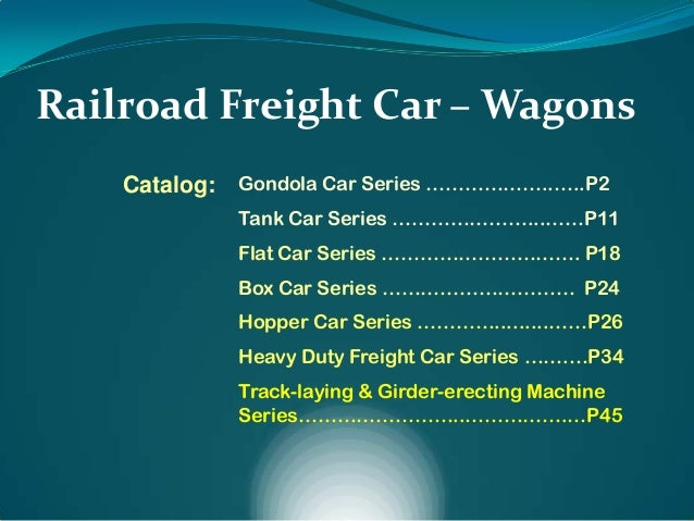 Railroad & Freight Car - Wagon