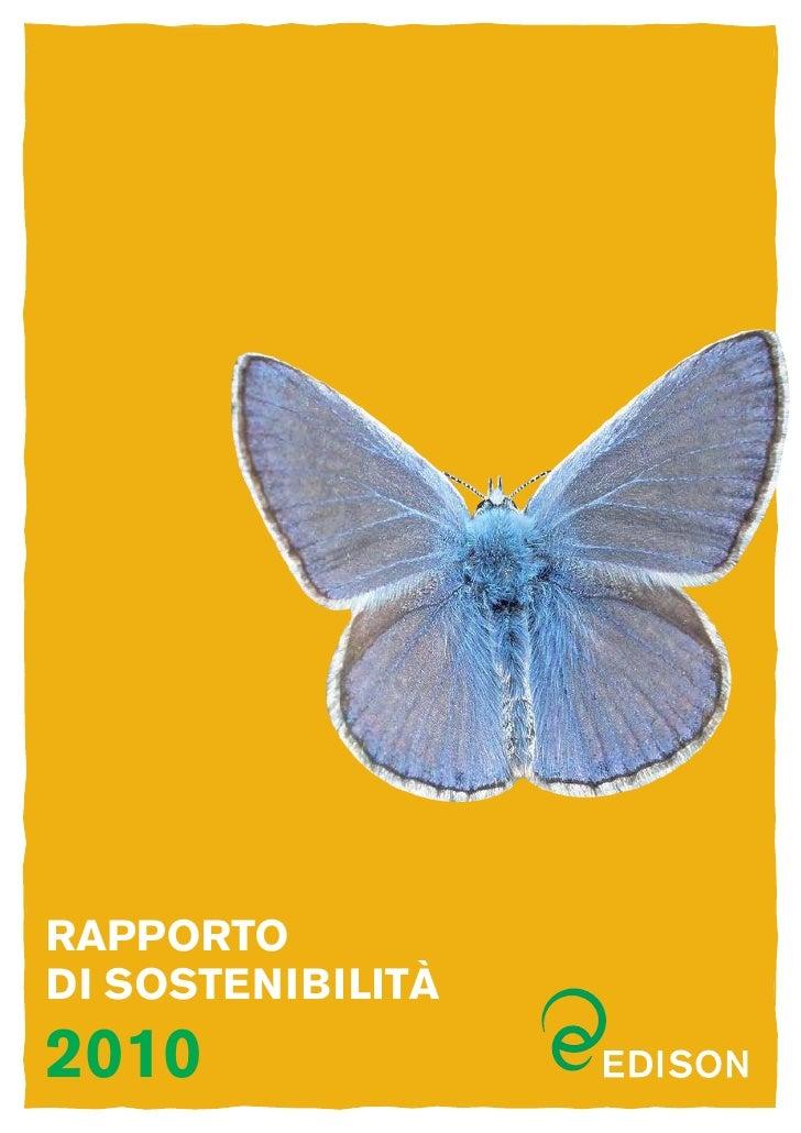 Rapportodi sostenibilità2010
