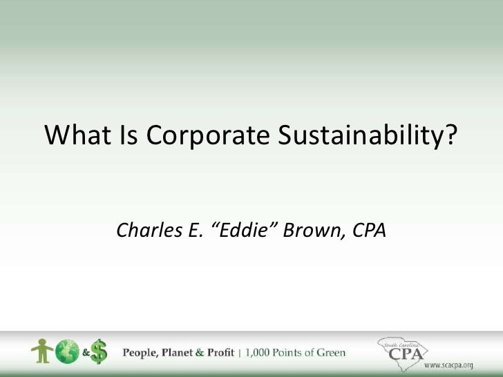 Corporate Sustainability Overview + What SCACPA is Doing