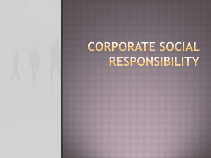 Corporate Social Responsibility<br />