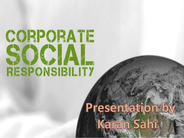 "tax and corporate social responsibility Since the ministry of corporate affairs is keen to move its attitude towards social development, they inserted a welcome provision of ""corporate social respo."