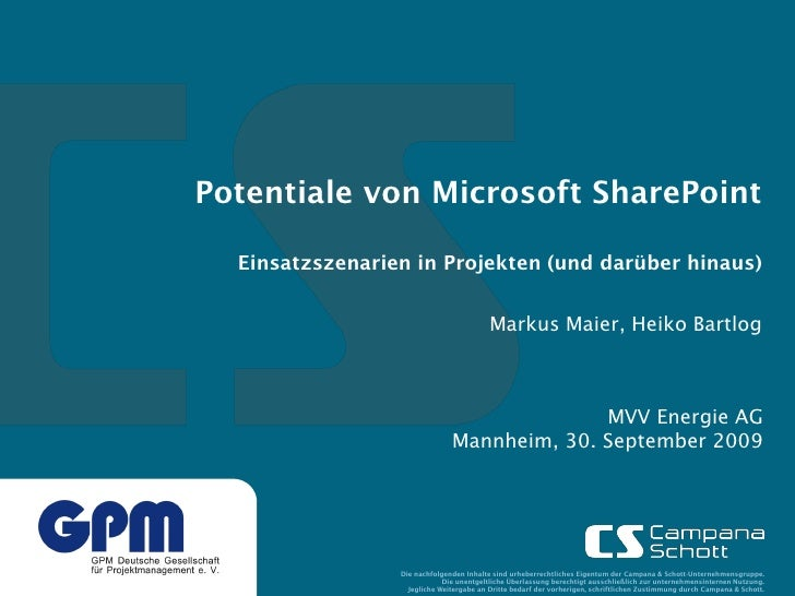 CS SharePoint PM - GPM Mannheim 090930