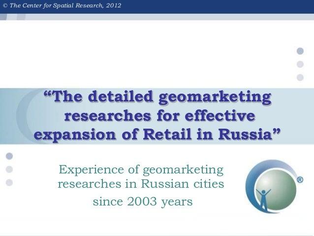 Geomarketing for retail