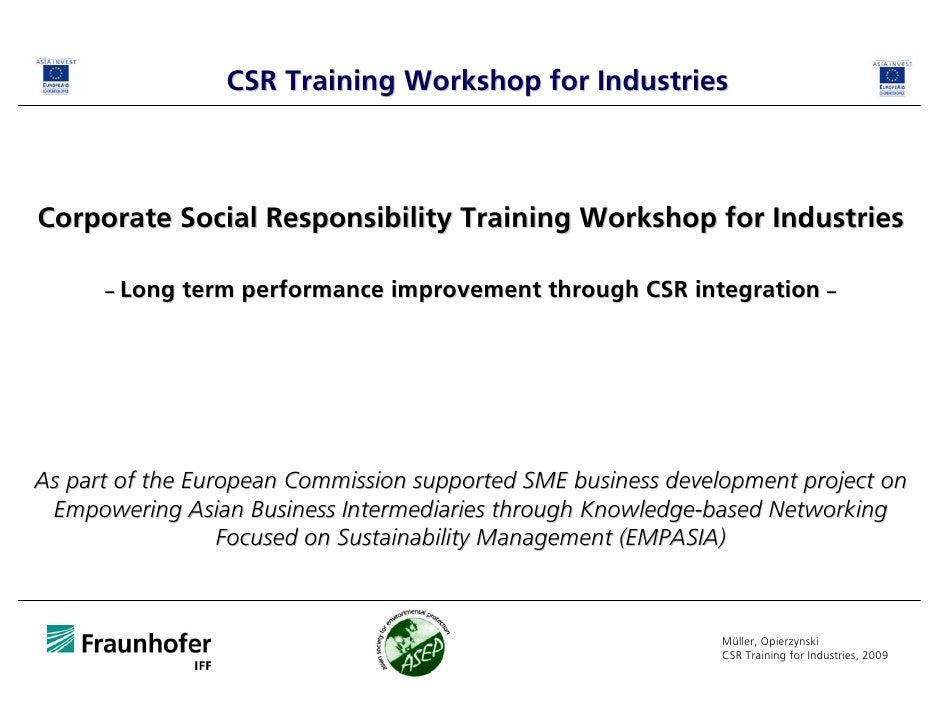 CSR in practice