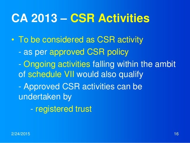 csr in mauritius an overview At least 50% of the csr fund set up on or after 1 january 2017 up to 31 december 2017 should be remitted to the mauritius revenue authority (mra), and at least 75% of the csr fund set up on or after 1 january 2018 should be remitted to the mra.