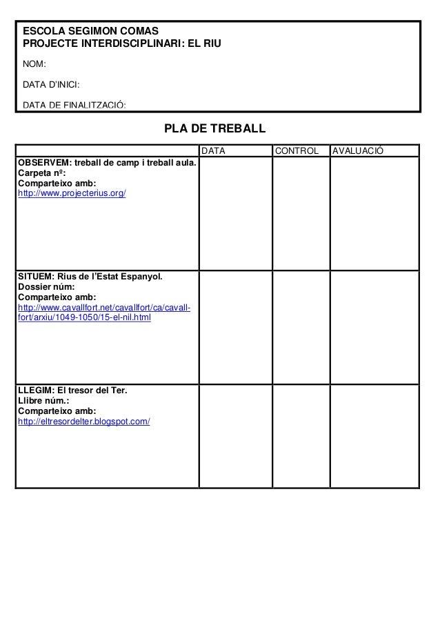 PLA DE TREBALLDATA CONTROL AVALUACIÓOBSERVEM: treball de camp i treball aula.Carpeta nº:Comparteixo amb:http://www.project...