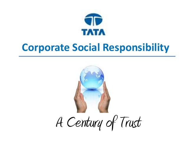 Corporate Social Resposibility For TATA  Pvt Ltd