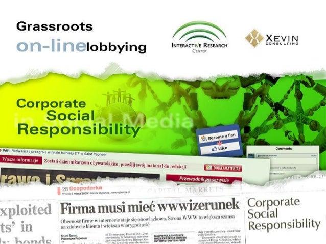 CSR in Social Media
