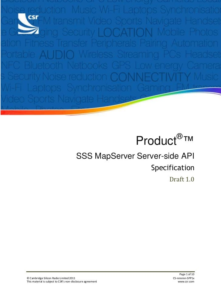 ®                                                             Product ™                                        SSS MapServ...