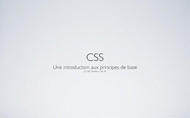 CSS : Une introduction aux principes de base