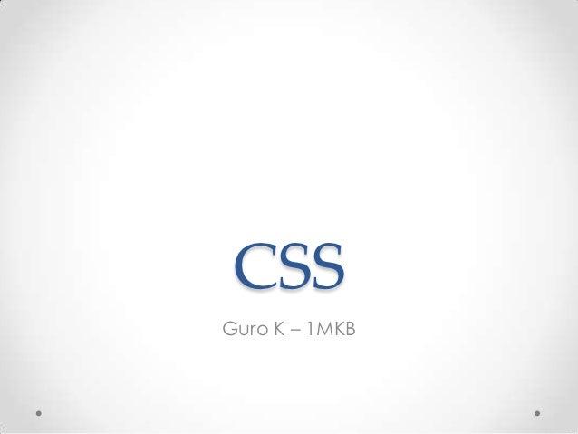 CSSGuro K – 1MKB