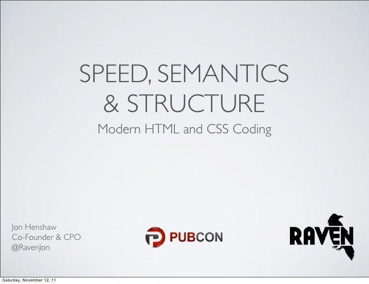 Modern HTML & CSS Coding: Speed, Semantics & Structure