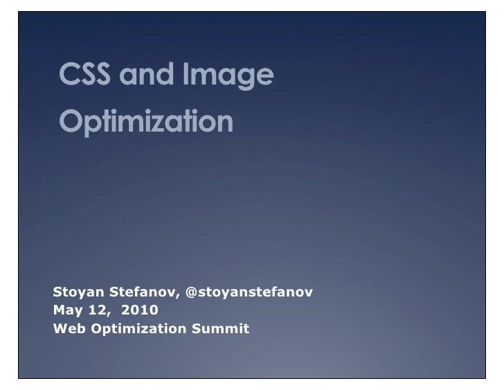 CSS and image optimization