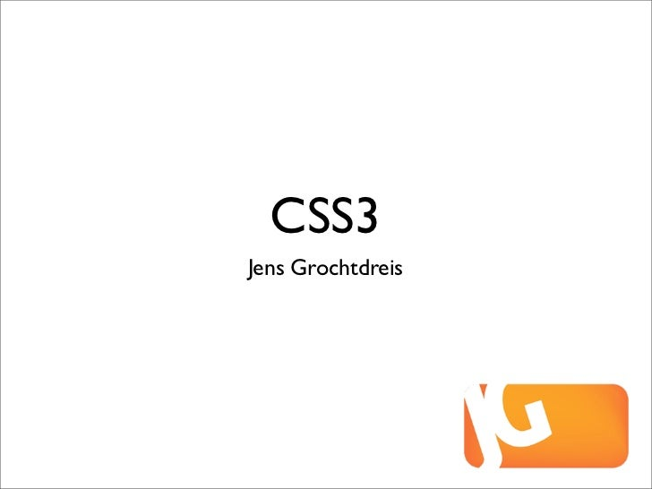 CSS3Jens Grochtdreis