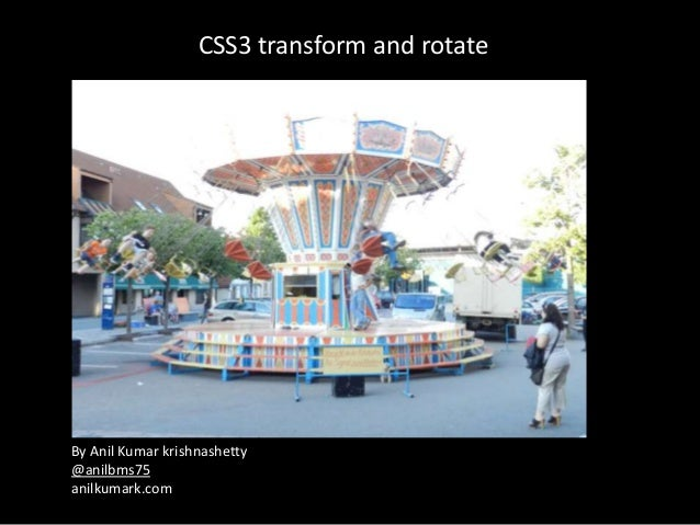 CSS3 transform and rotate