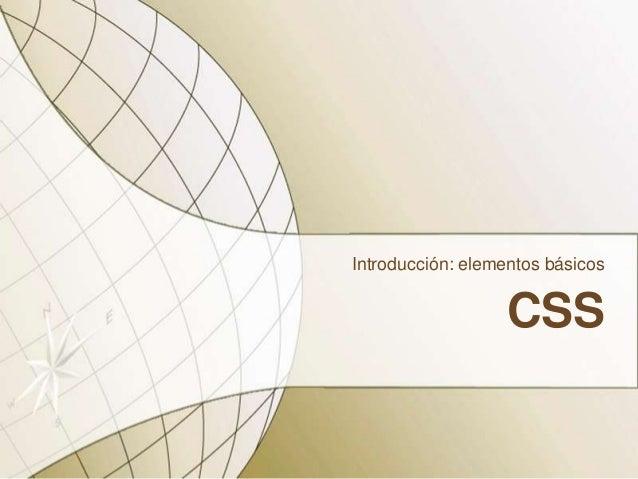 CSSIntroducción: elementos básicos