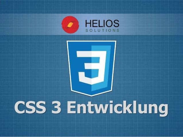 CSS 3 Entwicklung