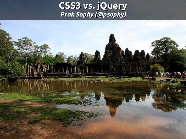 CSS3 vs jQuery