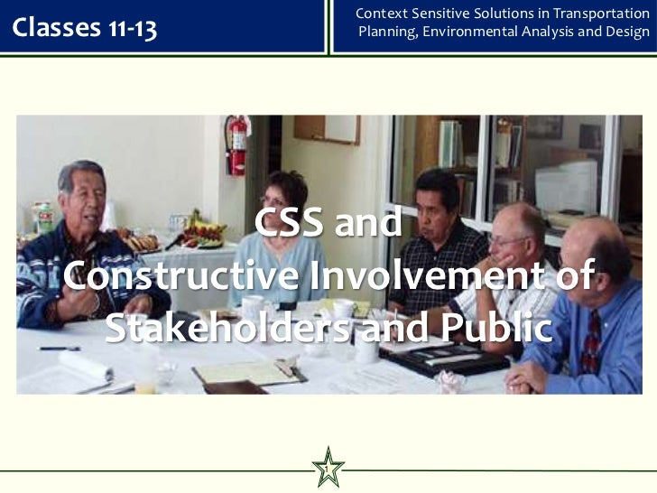 Css classes 11 13 superceded - stakeholder involvement 111909
