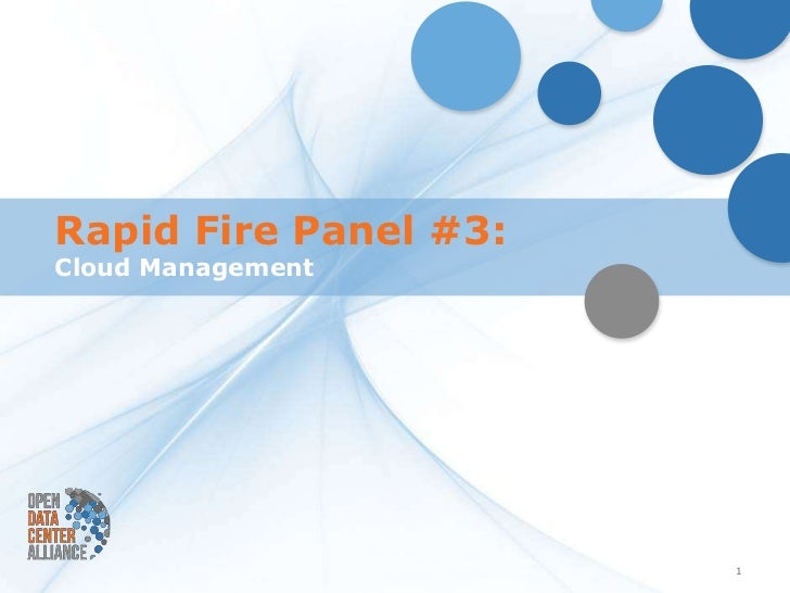 Forecast 2012 Panel: Cloud Management George Reese